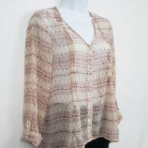 Pins and Needles Sheer Layering Blouse Size Small